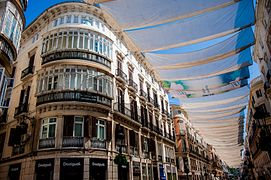 Streets of Málaga under cover of tents. Andalusia, Spain, Southeastern Europe.jpg