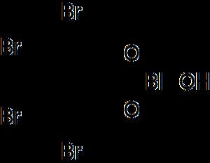 Bibrocathol - Image: Structure of bibrocathol