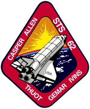 John Casper - Image: Sts 62 patch