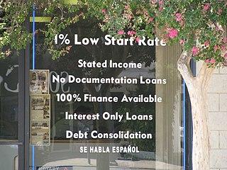subprime mortgage offfer