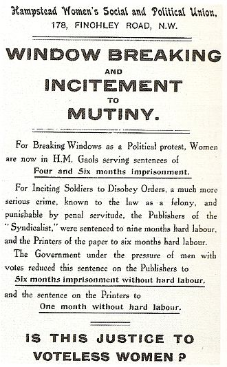Women's suffrage in the United Kingdom - A handbill complaining about sexual discrimination during the movement.