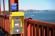Suicide prevention sign on the Golden Gate Bridge 2.jpg