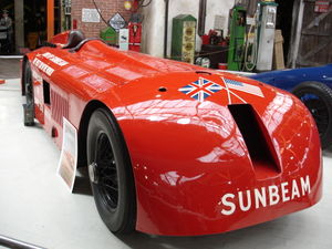 Aero-engined car - The Sunbeam 1000 hp at the National Motor Museum, Beaulieu in 2006