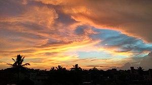 Saharsa - Sunset Skyline, Rajwanshi Nagar, Saharsa Town, Koshi Anchal, Sa