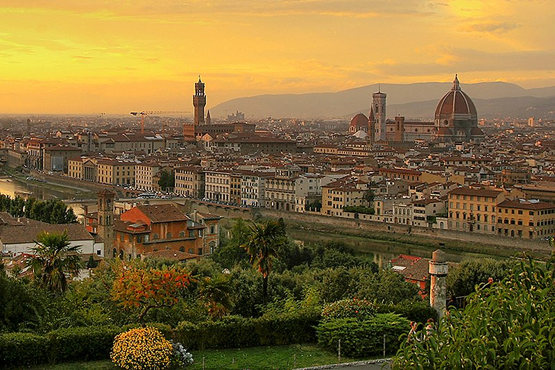 File:Sunset over florence 1.jpg