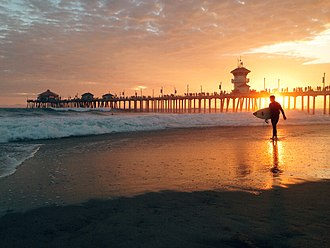 Huntington Beach Pier - Sunset on Sunday, 9/7/14 at Huntington Beach Pier