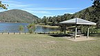 Swimming area in Lake Somerset at The Spit recreation area, Somerset Dam (locality), 2020.jpg