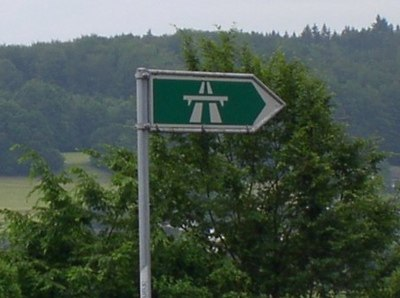 Swiss Autobahn Sign