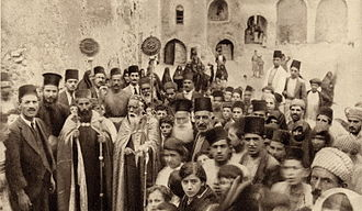 Syriac Christianity - Celebration at a Syriac Orthodox monastery in Mosul, Ottoman Syria, early 20th century.