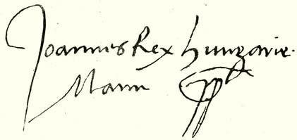 John I's signature