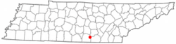 Location of Sewanee, Tennessee