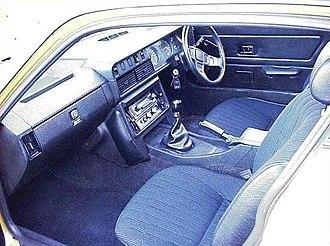 Triumph TR7 - TR7 broadcord interior. Note lack of lights in driver's door.