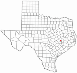 Location of Millican, Texas