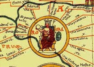 Tabula Peutingeriana - Rome.