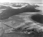 Taku Glacier, terminus of tidewater glacier with firn line visible in the background, August 24, 1969 (GLACIERS 6180).jpg