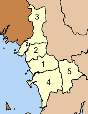 Sikao District - Map of Tambon