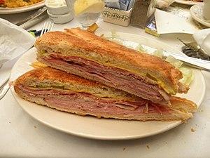 Cuban sandwich - Image: Tampa Cuban sandwich