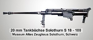 Solothurn S-18/1000 - please note that the photograph shows the earlier S18-100 rather than the S18-1000