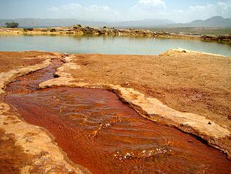 Mineral spring - Tap tapan spring in Azarshahr, Iran