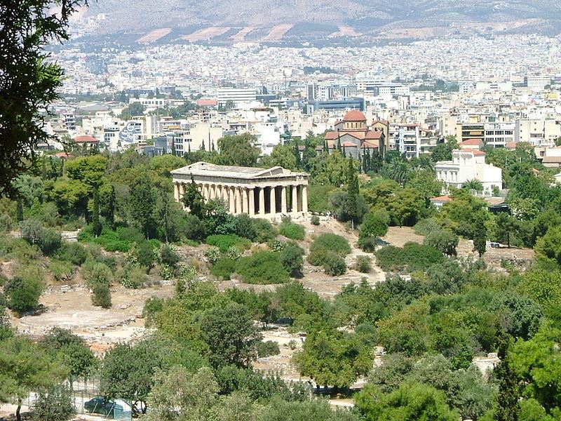 File:Templo de Hefesto y vista de Atenas al fondo.JPG