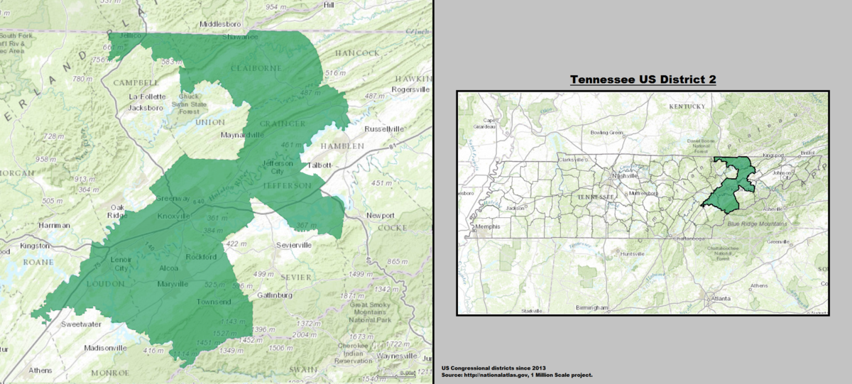 Tennessees Nd Congressional District Wikipedia - Tennessee us map