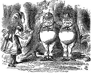 "Tweedledum and Tweedledee Pair of fictional brothers from Carrolls ""Through the Looking Glass"""
