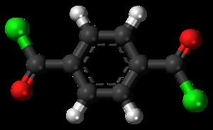 Terephthaloyl chloride - Image: Terephthaloyl chloride 3D ball