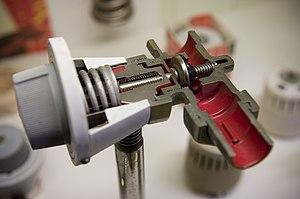 Danfoss - Cutaway model of Danfoss' first automatic valve