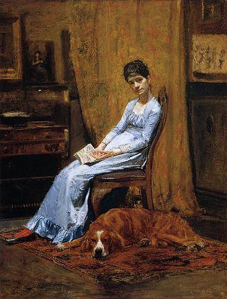 Susan Macdowell Eakins - Metropolitan Museum of Art Thomas Eakins, The Artist's Wife and His Dog (1884-89), depicts Susan Macdowell Eakins and their dog Harry.
