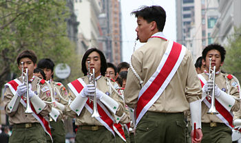 The Boy Scouts Marching Band.