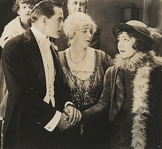 Amy Veness - Charles Bryant, Amy Veness, and Alla Nazimova in The Brat (1919)