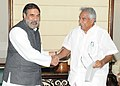 The Chief Minister of Kerala, Shri Oommen Chandy meeting the Union Minister for Commerce & Industry and Textiles, Shri Anand Sharma, in New Delhi on March 05, 2013.jpg