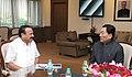 The Chief Minister of Sikkim, Shri Pawan Kumar Chamling meeting the Union Minister for Law & Justice, Shri D.V. Sadananda Gowda, in New Delhi on November 17, 2015 (1).jpg