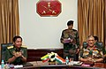 The Commander-in-Chief of the Myanmar Defence Services, Sr. Gen. U Min Aung Hliang calling on the Chief of Army Staff, General Bipin Rawat, in New Delhi on July 14, 2017.jpg