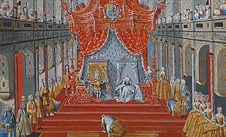 Christian VI of Denmark - The Coronation of Christian VI, 1731.