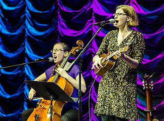 Geek rock - The Doubleclicks, Aubrey and Angela Webber, performing onstage at JoCo Cruise Crazy 3.