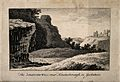 The Dropping Well, Knaresborough, Yorkshire; with the castle Wellcome V0012798.jpg
