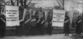 The First Picket Line-College Day in the picket line. Feb. 1917.png