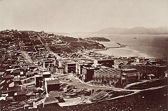 Golden Gate - The Golden Gate photographed from Telegraph Hill by Carleton Watkins circa 1868