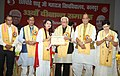 The Governor of Uttar Pradesh, Shri Ram Naik conferring the certificates to the students at the 33rd convocation of Chhatrapati Shahu Ji Maharaj University, in Kanpur, Uttar Pradesh.JPG