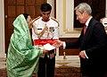 The High Commissioner of United Kingdom to India, Mr. Chrles Richard Vernon Stagg presented his credentials to the President, Smt. Pratibha Devisingh Patil at Rashtrapati Bhavan in New Delhi on September 26, 2007.jpg