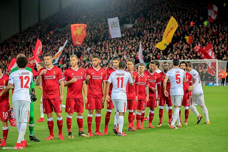 File:The Liverpool team line-up before the game v Spartak Moskva, December 2017.jpg