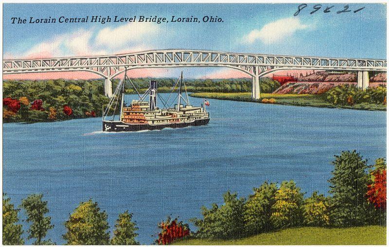 File:The Lorain Central High Level Bridge, Lorain, Ohio (89621).jpg