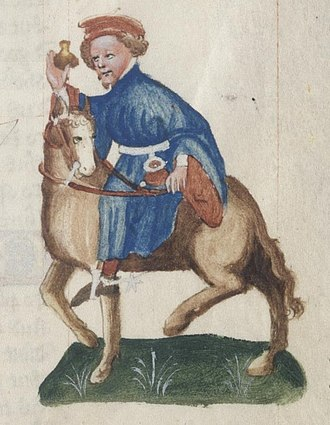 Manciple - A manciple illustrated in the Ellesmere Chaucer