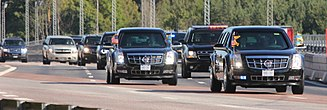 Presidential state car (United States) - Barack Obama's motorcade