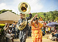 The Pacific Fleet Band performs in Suvasuva, Fiji during Pacific Partnership 2015 150613-N-TQ272-186.jpg