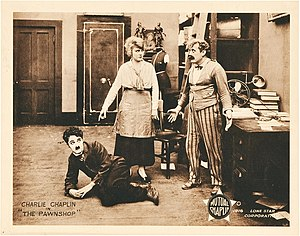 John Rand (actor) - Charlie Chaplin, Edna Purviance, and John Rand in The Pawnshop (1916)