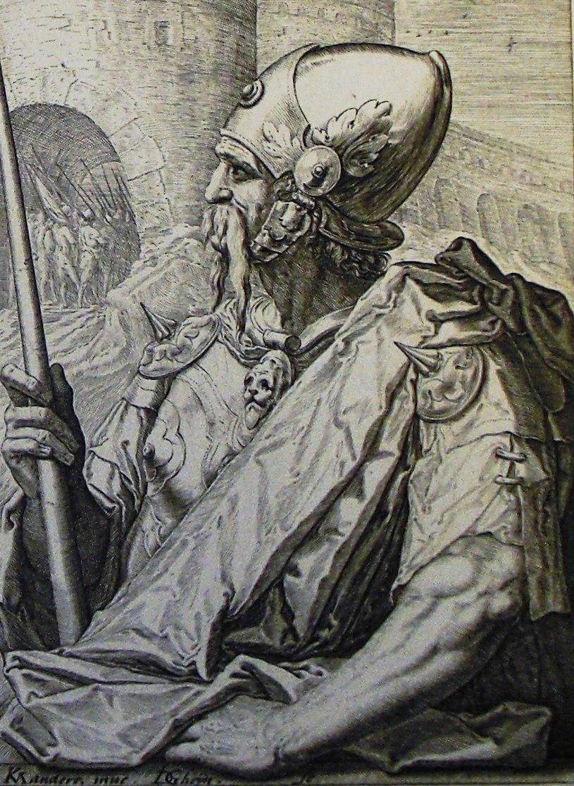 The Phillip Medhurst Picture Torah 266. Gad. Genesis cap 49 v 19. De Geyn