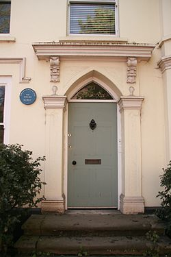 Photo of The Poplars blue plaque