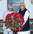 The President Dr. A.P.J. Abdul Kalam greeting the Prime Minister Shri Atal Bihari Vajpayee on his 79th birthday in New Delhi on December 25, 2003.jpg